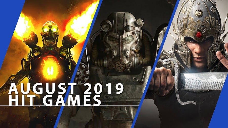 playstation now doom fallout 4 for honor hit ps4 games august 2019