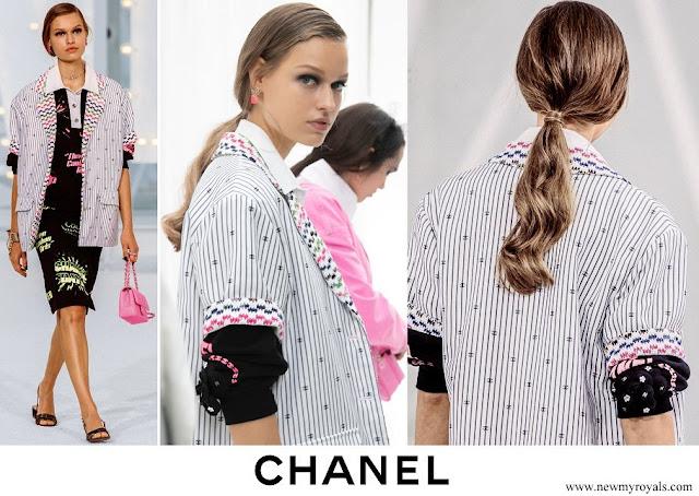 Charlotte Casiraghi wore Chanel Cotton Multicolour Jacket