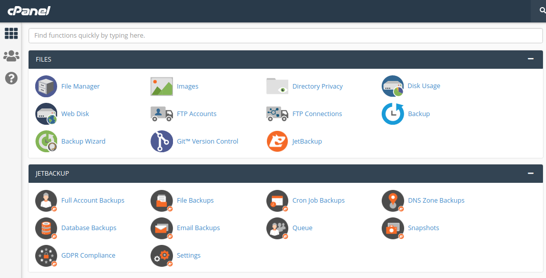 Image of cPanel