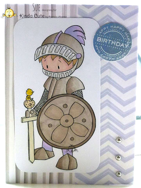 card using knight digital stamp