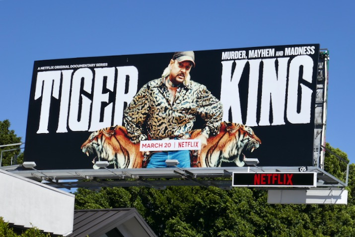 Tiger King series premiere billboard