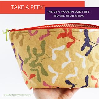 Travel Sewing Bag   Best of 2019   Shannon Fraser Designs #travelsewingbag