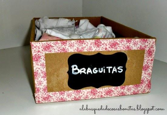 caja decorada para la ropa interior
