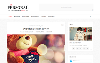 Personal Split Blogger Template