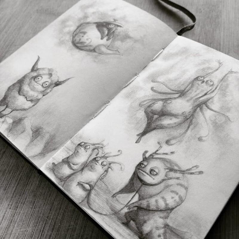 10-Stella-Bialek-Moleskine-Fantasy-Creatures-Drawings-www-designstack-co