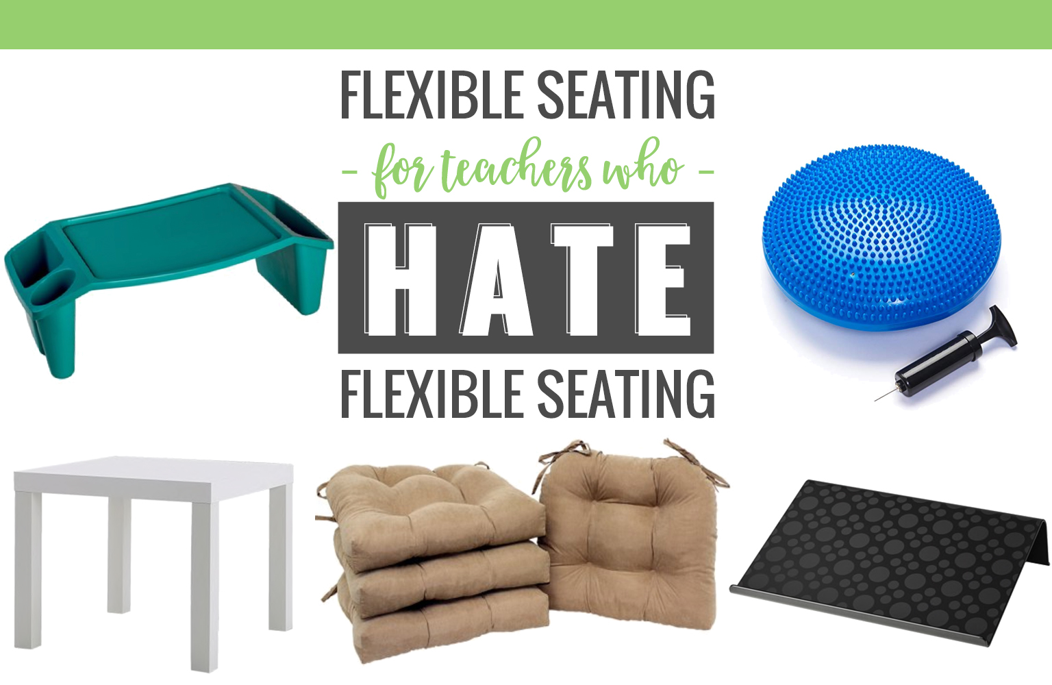 Not ready to jump on board with flexible seating and clear out your desks and chairs? Here are some inexpensive ways to still offer students choice without rearranging your entire classroom!