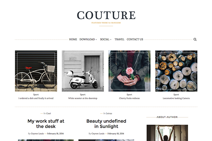 Couture personal free blogger template