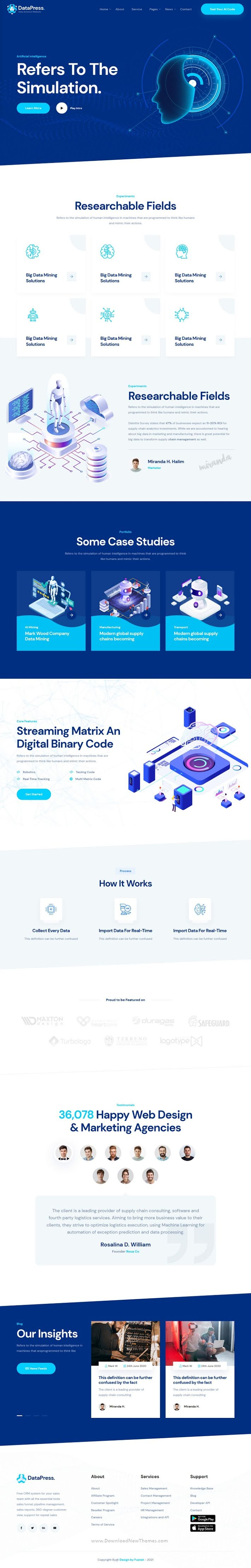 Data Science and Analytics HTML Template
