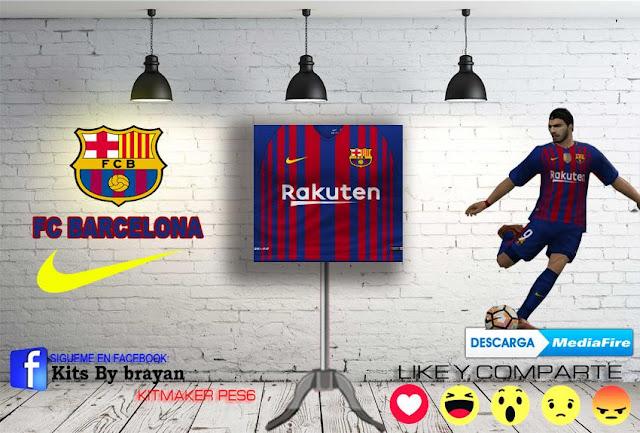 0a44e9ce29a ultigamerz  PES 6 FC Barcelona 2017-18 Home Kit