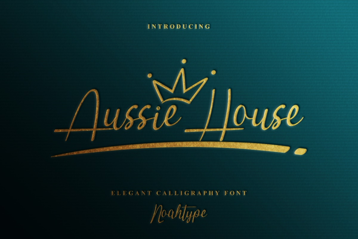 Aussie House Font - Free Script Calligraphy Typeface