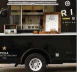Fresh roasted coffee from Rival Bros Coffee Roasters food truck Cafe