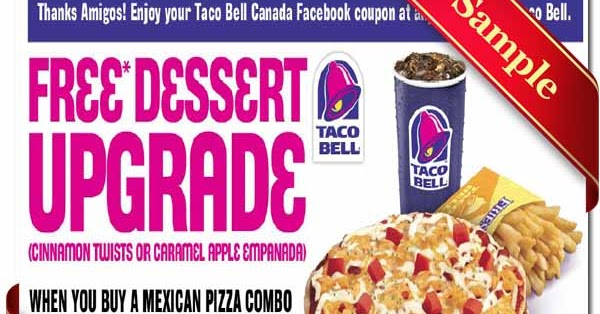 Taco bell free coupons printable