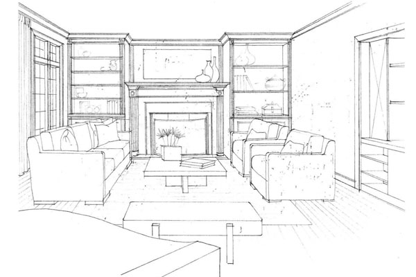 Living Room 2 Point Perspective living room examples - creditrestore