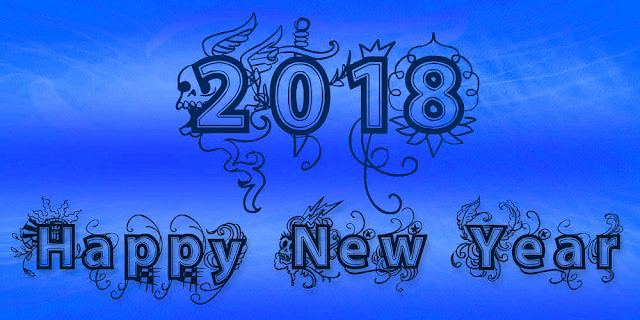 Happy new year 2018 free vector art download