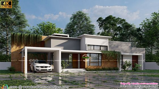 Tropical single floor home design Typa A