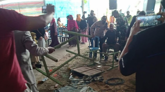 Berulah Lagi, Kades Pemasang Baliho 'Enak Zaman PKI' Amuk Petugas yang Bubarkan Hajatan