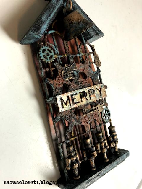Sara Emily Barker Altered Steampunk Christmas Ornament https://sarascloset1.blogspot.com/ 2