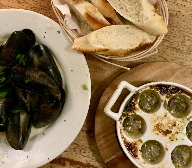 escargot and Moules Mariniere at Le Garrick #restaurant #review