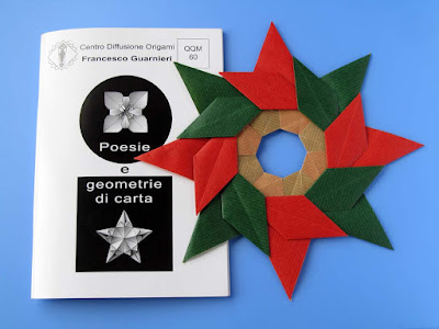 Origami, Booklet QQM 60 and Stella ghirlanda - Star garland © by Francesco Guarnieri
