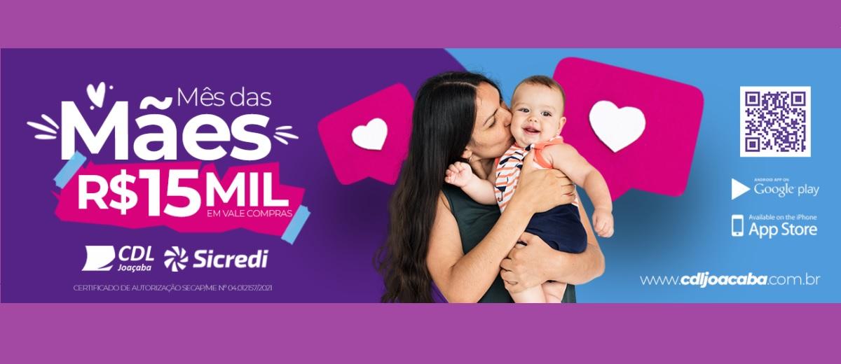 Promoção CDL Joaçaba Dia das Mães 2021 Vales-Compras