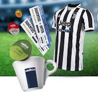 Concorso Lavazza Sunday Cup 2021 : vinci gratis biglietti per Juventus-Inter e maglia Juventus