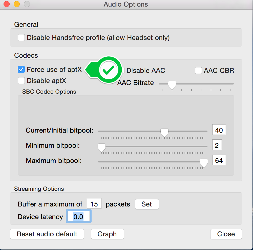 Force Mac OS X to use aptX with your bluetooth audio devices