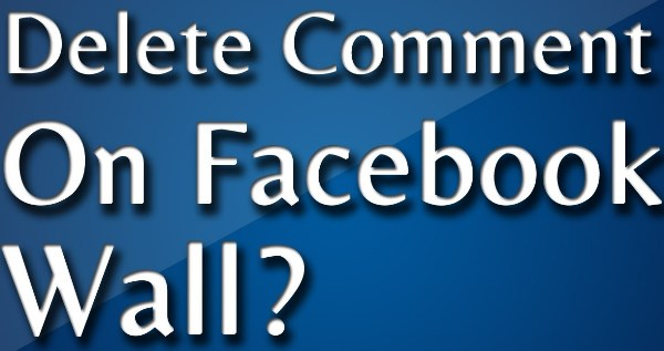 How to remove a comment on facebook