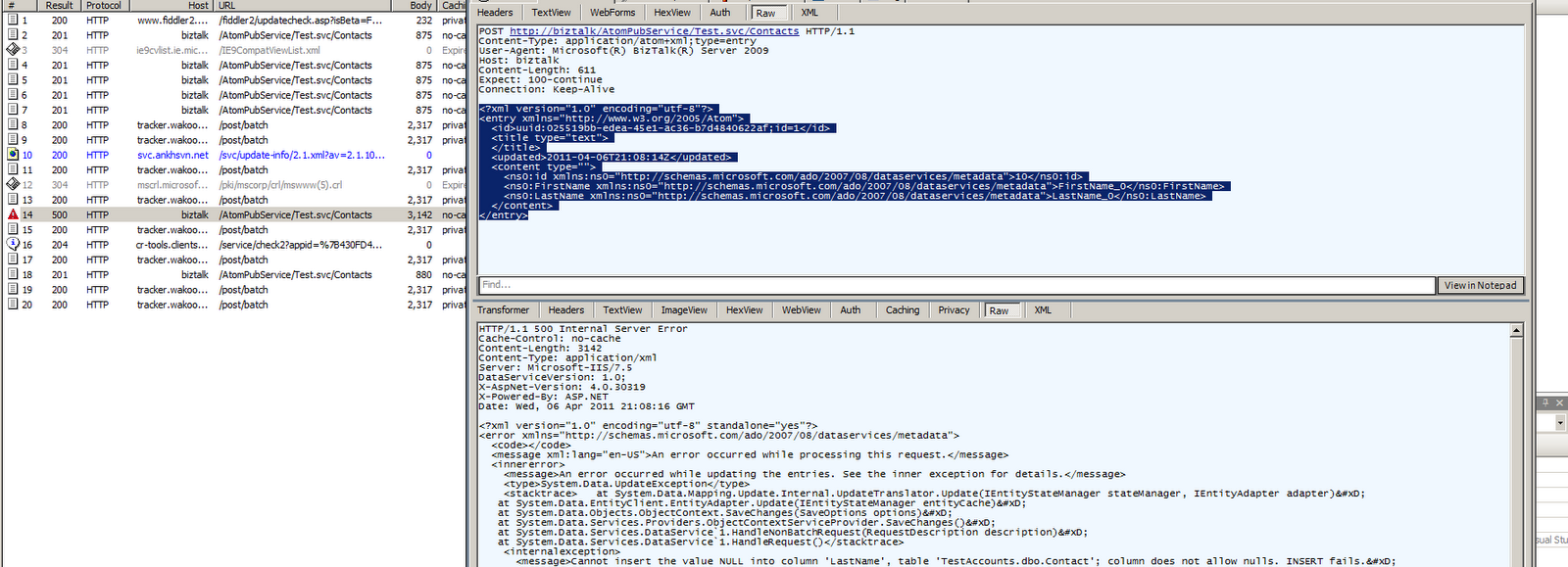 BizTalk to WCF Data Services Part 2 (WCF Custom Adapter