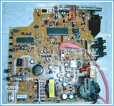 tv circuit board diagram repair master electronics repair   samsung cl21k40 crt tv service  crt tv
