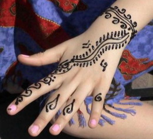 Easy Henna Designs For Kids: Easy Henna Tattoos