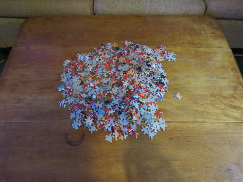 puzzle dumped on table