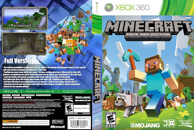 Capa Minecraft Xbox 360 Edition