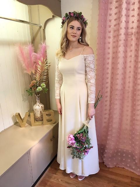 Medieval off the shoulder wedding dress