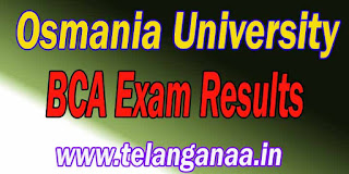 Osmania University BCA Exam Results Download