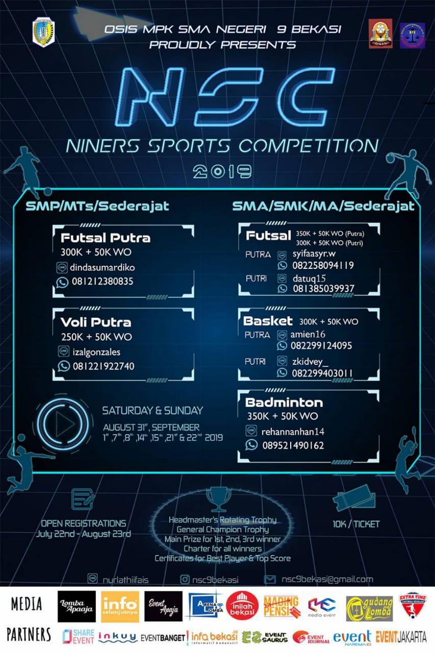 SMAN 9 Bekasi - Niners Sport Competition 2019