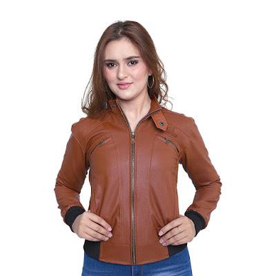 Jaket Semi Kulit Wanita Catenzo DI 035
