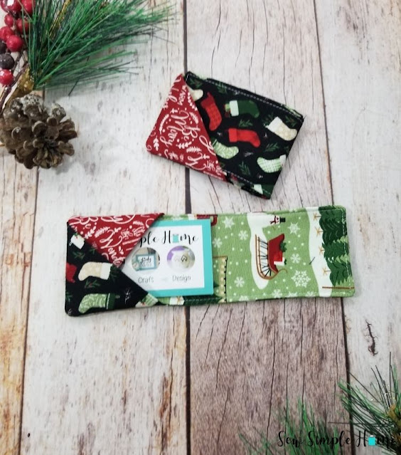 fabric gift card holder tutorial