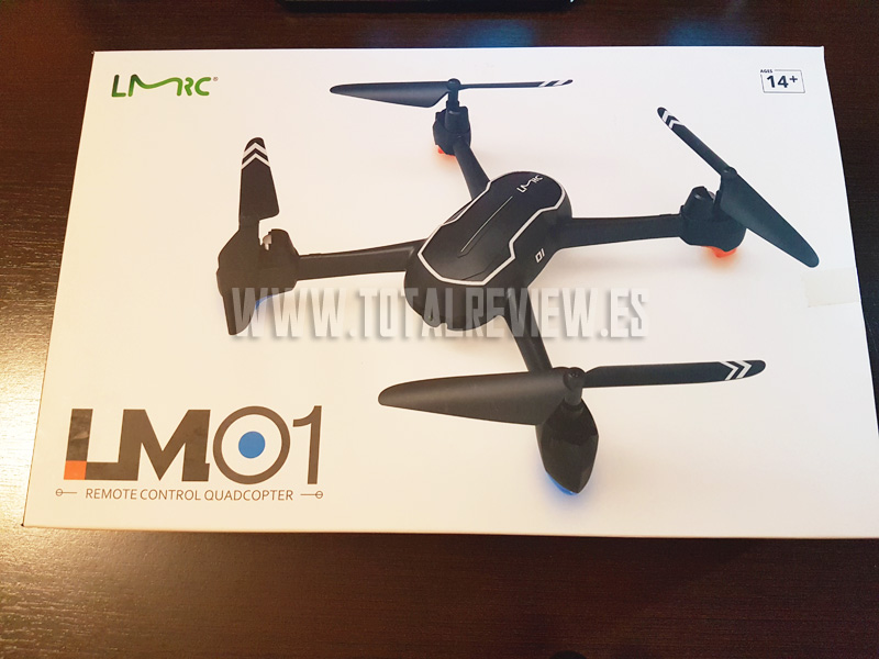 drone con camara en Amazon, unboxing