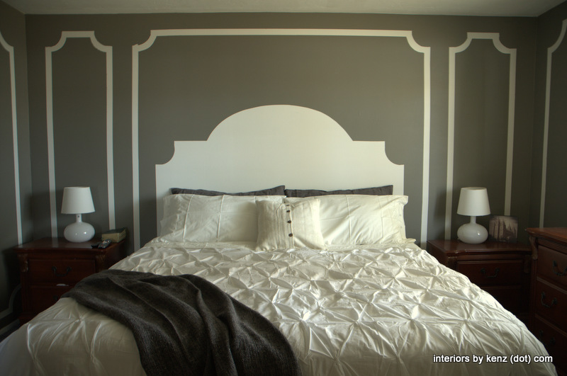 Someday Crafts: Painted Wall Headboard and Molding