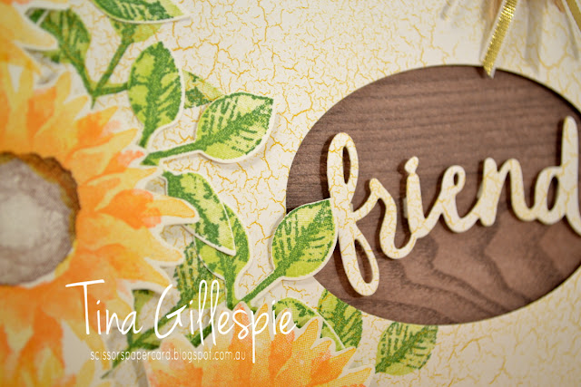 scissorspapercard, Stampin' Up!, Art With Heart, Painted Harvest, Colour Theory DSP, Wood Textures DSP, Lovely Words Thinlits