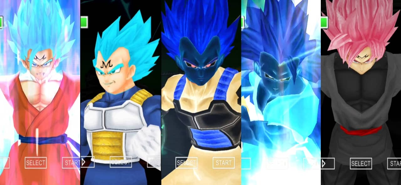 Dragon Ball Super Majin Goku Blue and Majin Vegeta Blue