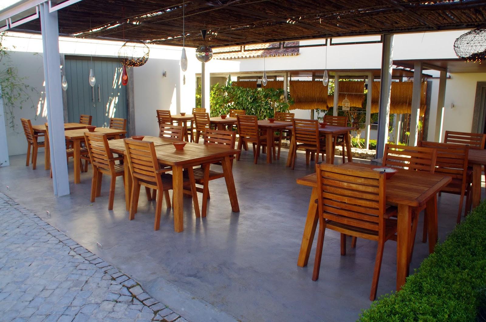 Outdoor seating at Fazenda Nova Country House