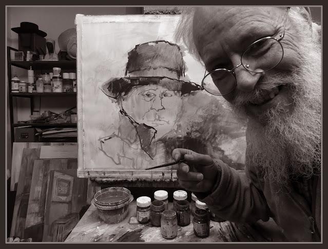 MUSSOLINI-ARTE-PINTURA-FOTOS-PINTANDO-PERSONAJES-HISTORIA-SEGUNDA GUERRA MUNDIAL-ARTISTA-PINTOR-ERNEST DESCALS