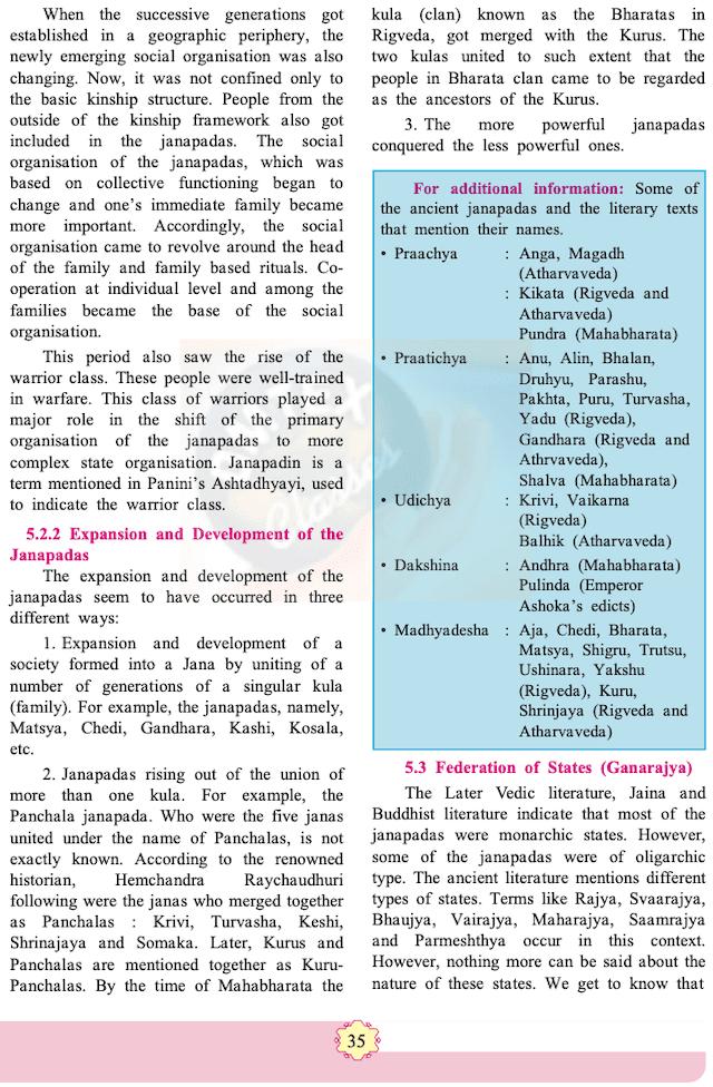 chapter 5 - Janapadas and Republics  Balbharati solutions for History 11th Standard Maharashtra State Board.