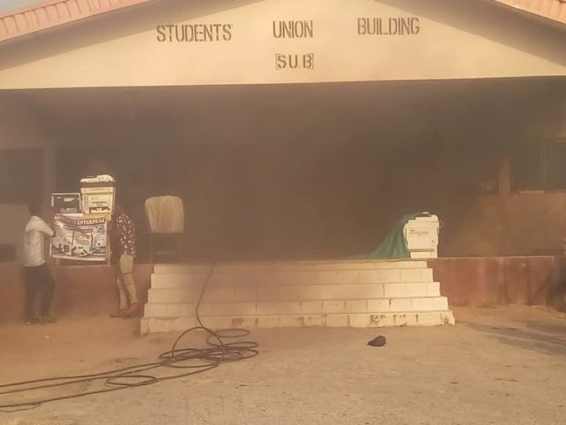 Breaking: Fire Outbreaks AAUA Student Union Building (Photos + Video)