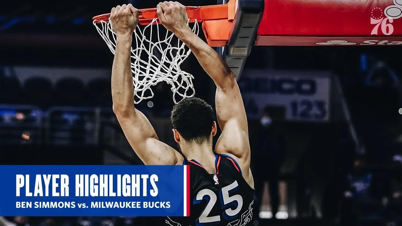 Ben Simmons 13pts 10reb 12ast vs MIL   March 17, 2021   2020-21 NBA Season