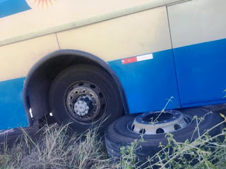 Roda de ônibus se soltar