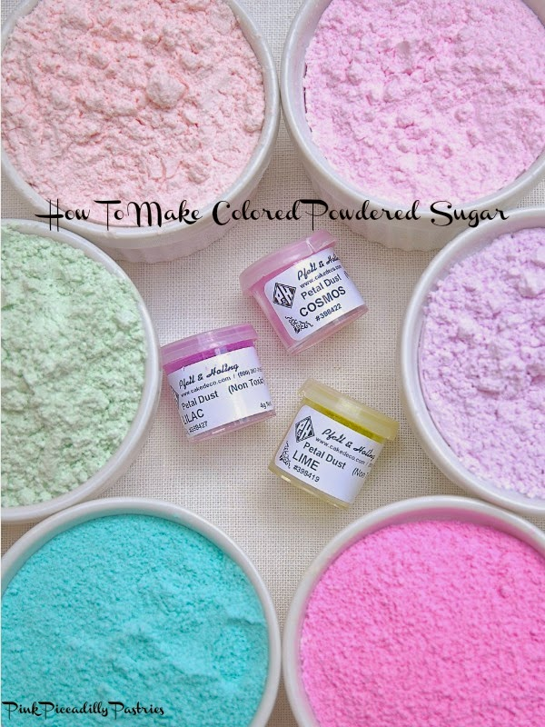 Pink Piccadilly Pastries: How to Make COLORED POWDERED SUGAR - 4 Ways!