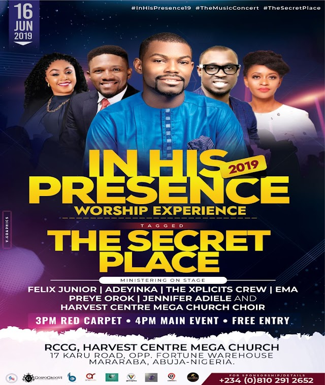 Felix Junior Unveil The Lineup For In His Presence Worship Experience 2019 || @iamfelix_junior