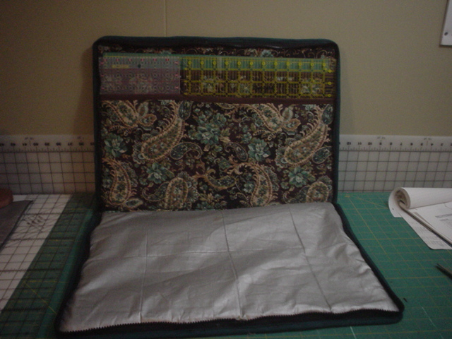Inch Worm Fabrics Ruler And Mat Tote With Iron Pad